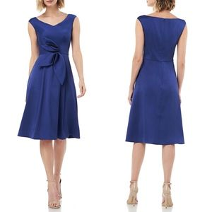KAY UNGER ROYAL Stretch Mikado Fit & Flare DRESS